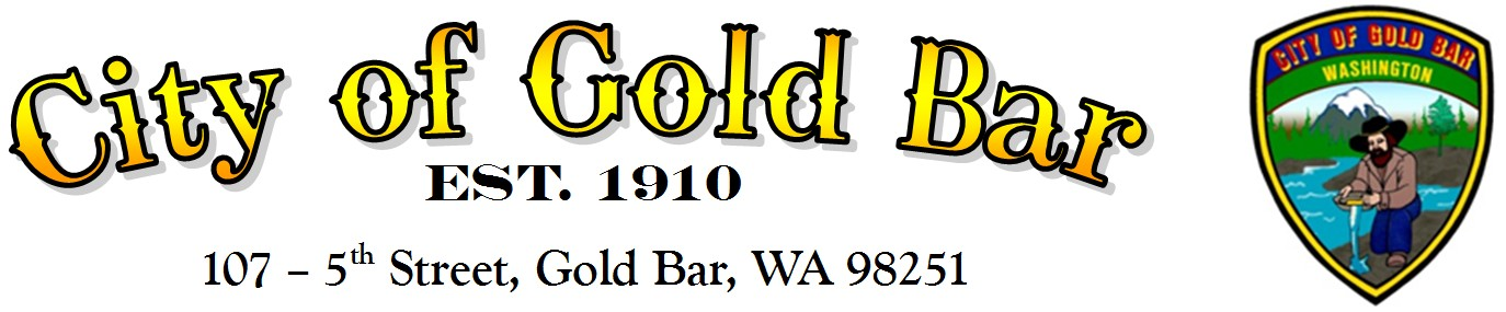 City of Gold Bar est. 1910 Logo